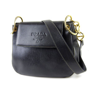 PRADA Prada leather chain shoulder bag black 20190510