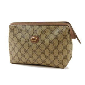 GUCCI Gucci GG Pattern Vintage Second Bag Clutch Brown Pouch 20190510