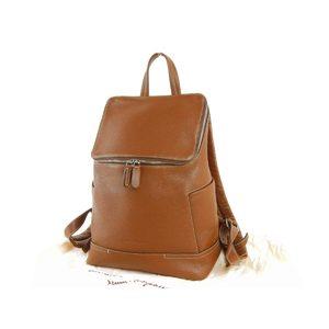 Salvatore ferragamo Ferragamo Women's Logo Rucksack Leather Brown Backpack Bag 20190604