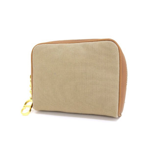 Christian Dior Vintage CD Logo Charm Pouch Canvas Leather Brown Tea Camel Multi Case 20190510