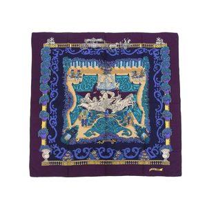 HERMES Hermes Calle 140 LE PARADIS DU ROY Paradise Roy Large format stall Cashmere Silk Purple Multi color shawl 20190529