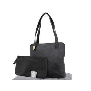 Christian Dior Vintage Leather Tote Bag Black Shoulder 20190531