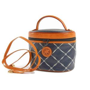 HUNTING WORLD Hunting World 2way vanity handbag PVC leather ネ イ navy shoulder 20190523