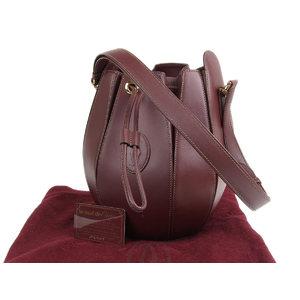 Cartier Mastline drawstring shoulder bag red Bordeaux 20190604