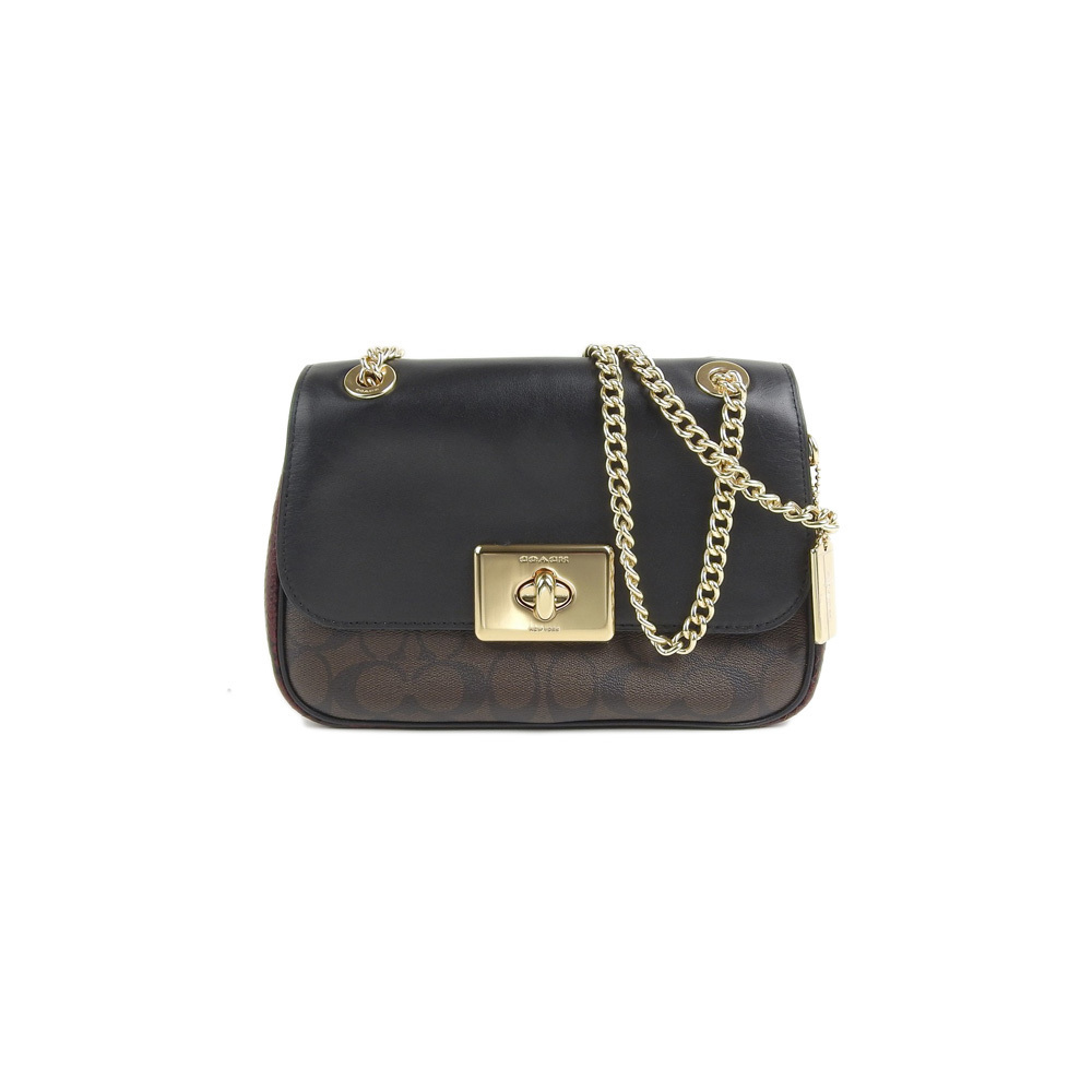 suitable for men/women great deals on fashion exceptional range of colors COACH CASSIDY CROSSBODY Signature PVC Leather Chain Shoulder Bag F48620 |  eLady.com