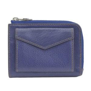 カルティエ(Cartier) CARTIER カルティエ CARTIER レザー L字 ファスナー コンパクトウォレット 二つ折り財布 ブルー系 レディース メンズ L3001127