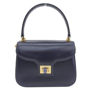 GUCCI Gucci Lapis Lazuli Turn Lock Top Handle Handbag OLD Navy Gold hardware