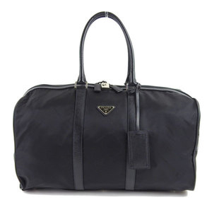 Prada PRADA nylon 2way Boston bag shoulder black * BG