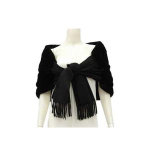 Fendi FENDI Cashmere × Lapin Stole Black * etc