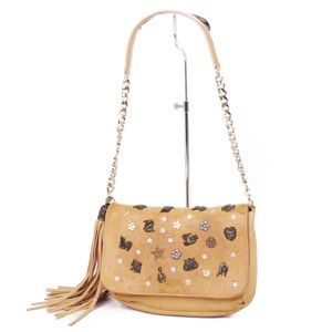 Jimmy Cho JIMMY CHOO Zodiac Shoulder bag Constellation Studs Women's Italian beige women's