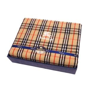 Burberry Burberrys 140cm × 200cm Single Check Wool 100% Blanket Beige