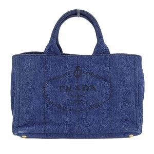 Prada PRADA Kanapatoto 2way tote bag shoulder denim canvas blue B2642B