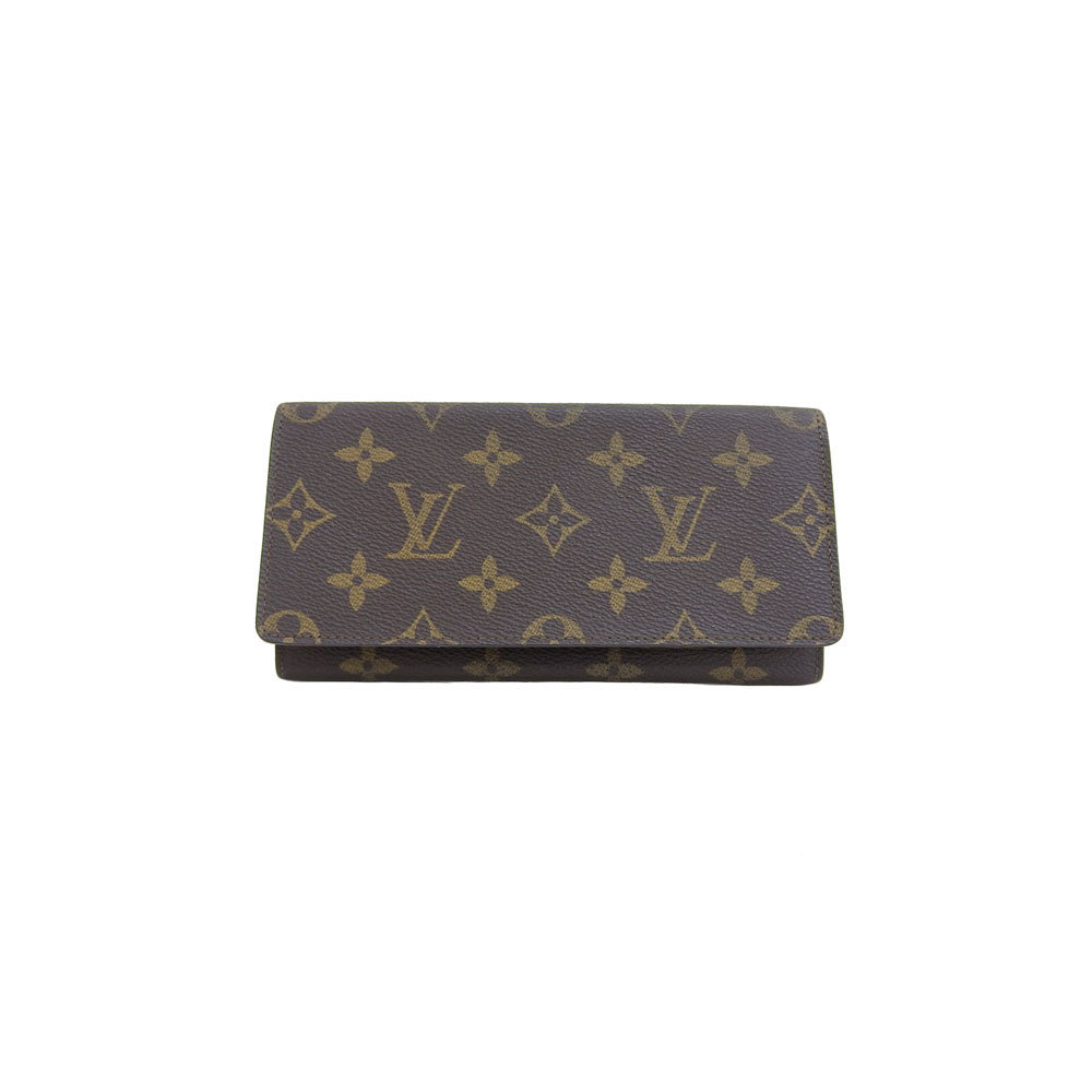 0f6f9aeef4c Genuine LOUIS VUITTON Louis Vuitton Monogram Wallet Long wallet ...