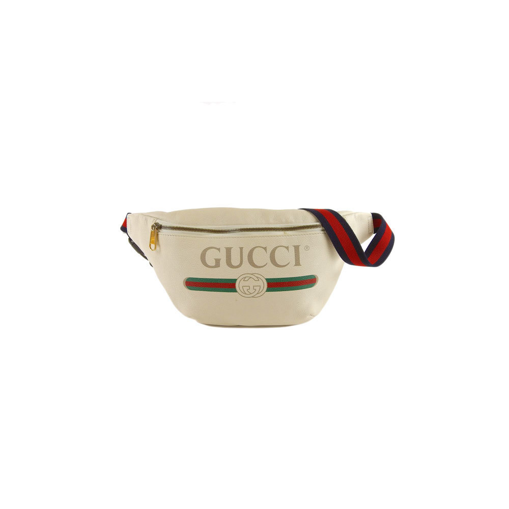 Genuine Gucci Printed Leather Shelly Body Bag Shoulder White Model number:  530412 | eLady com