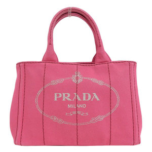 Genuine PRADA Prada Mini Kanapa 2WAY Tote Bag Shoulder Pink Model: 1BG439 Leather