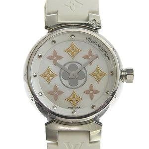 Genuine LOUIS VUITTON Louis Vuitton Tambour Ladies Quartz Wrist Watch Model: Q12 MS Shell Dial