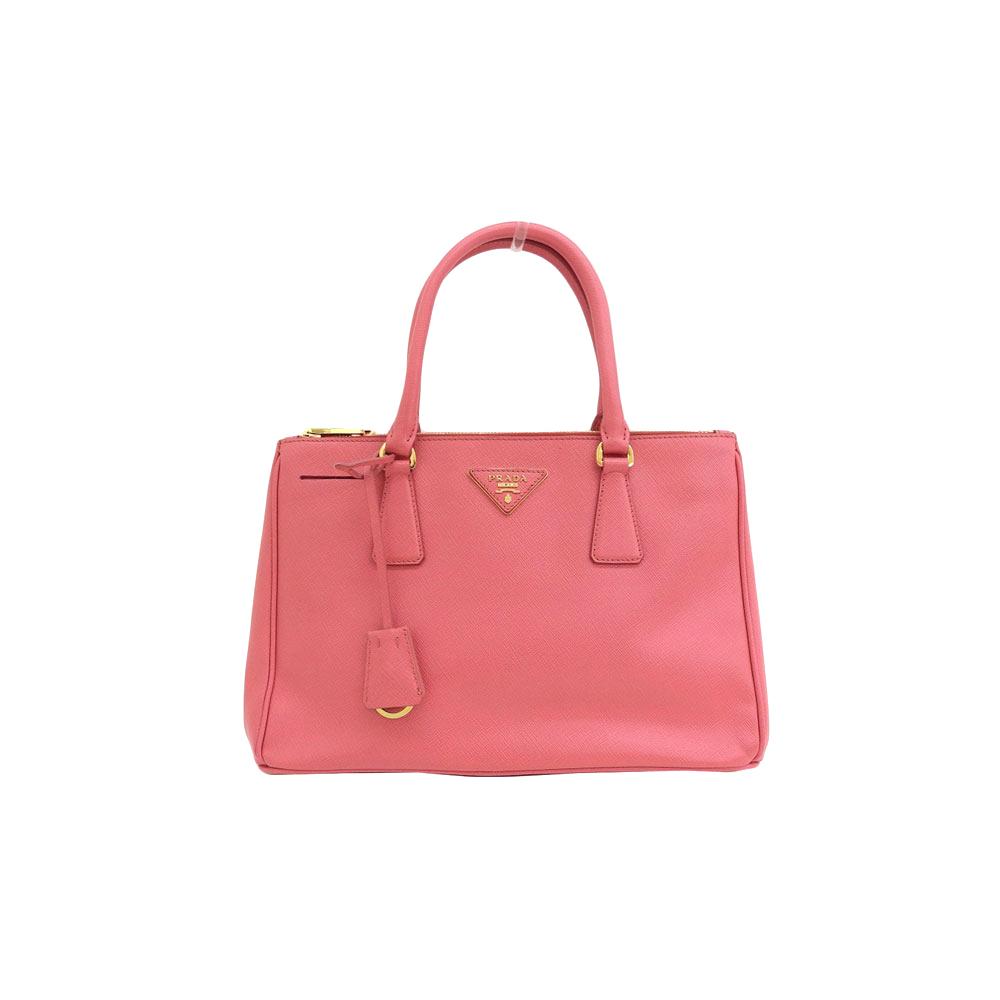 Genuine PRADA Prada Safiano Leather Galleria 2WAY Handbag Shoulder Pink Bag