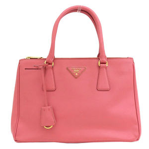 Genuine PRADA Prada Safiano Leather Galleria 2WAY Handbag Shoulder Pink Bag