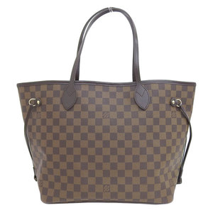 Genuine LOUIS VUITTON Louis Vuitton Damier Neverfull MM Tote Bag Model: N 41 358 Leather