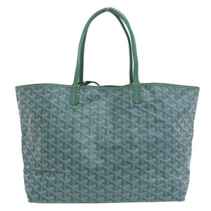Genuine GO YARD Goyard Saint Louis Tote PM Bag Green Leather