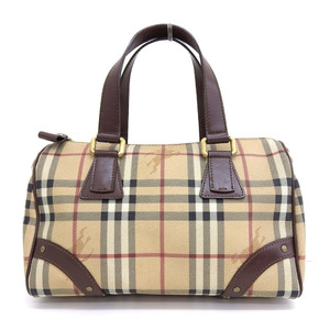 Burberry Burberry Mini Boston Bag Nova Check PVC Women