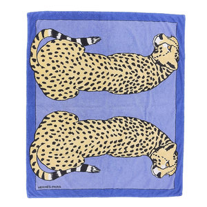 HERMES HERMES super large size beach towel 豹 W170cm H145cm cotton blanket