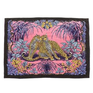 HERMES super-large size beach towel jungle love W170cm H144cm cotton blanket