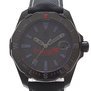 TAG Heuer Tag Men's Watch Aqua Racer Phantom One Piece Special Edition WAY 218C Japan Limited 1000 Gray Dial