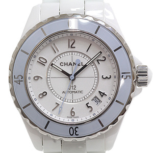 CHANEL Chanel Men's Watch J12 H4341 World Limited 1200 Soft Blue White (White) Dial Automatic