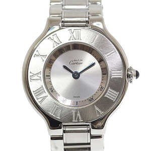 Cartier Ladies Watch Mast 21 W1019T2 Silver Dial Quartz