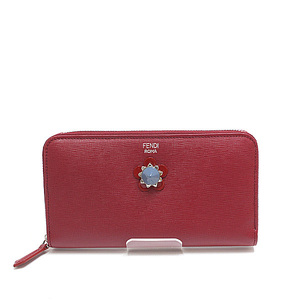 FENDI Fendy Crayons round fastener wallet 8M0299 red