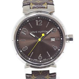 LOUIS VUITTON Louis Vuitton Men's Watch Tambour GM Q1111 Brown Dial Quartz