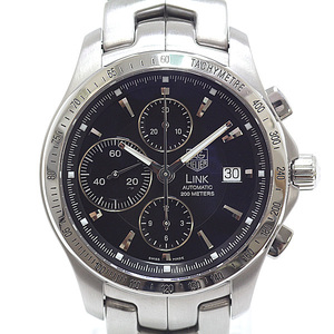 TAG HEUER Tag Heuer Men's Watch Link Chronograph CJF 2110-0 Black (Black) Dial Automatic