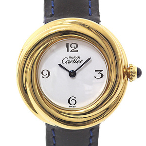 Cartier Ladies Watch Mast Trinity Quartz GP White (White) Dial