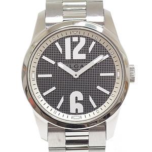 BVLGARI Men's Watch Solo Tempo ST37S Quartz Silver Dial