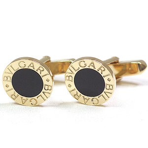Bulgari BVLGARI Cufflinks K18YG Black Onyx 750YG Men