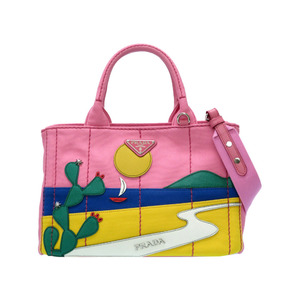 Prada Kanapa CANAPA PATCH pink cactus sea 1BG439 2WAY shoulder hand bag 0057 PRADA with strap