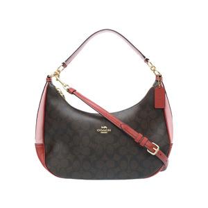 Coach Signature 2WAY Shoulder Bag F25897 Leather PVC 0132 COACH