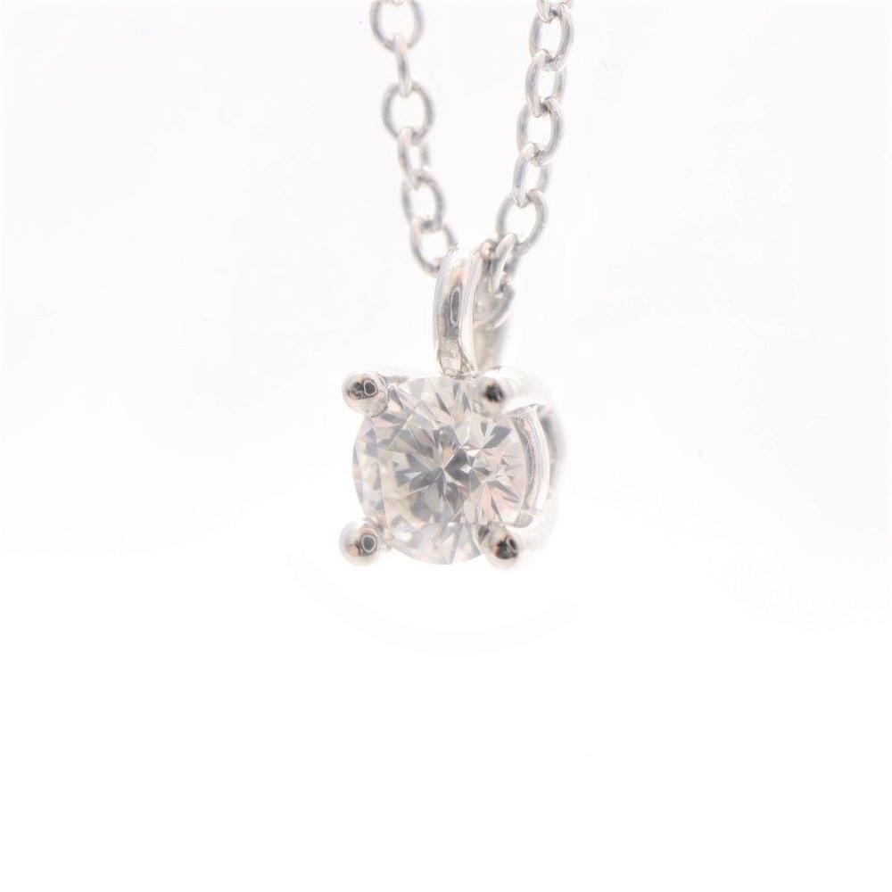 ティファニー (Tiffany) Pt950(プラチナ) ダイヤモンド レディース ペンダント カラット/0.12 (プラチナ) ソリティア