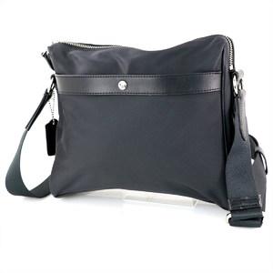 COACH Black Nylon Leather Men's Shoulder Bag