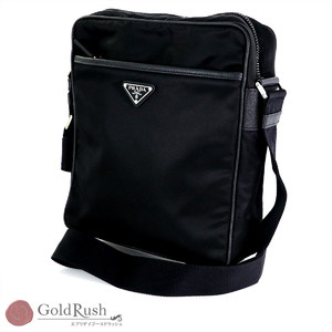 PRADA Black nylon shoulder bag diagonally