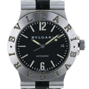 ブルガリ BVLGARI ディアゴノ35 LCV35S 自動巻式 ブラック 文字盤: 3針式 メンズ 腕時計  sa mo