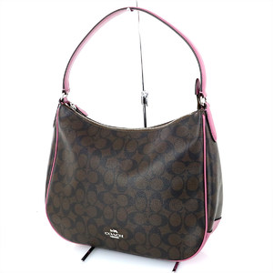 COACH Signature Brown Leather One Shoulder Bag F29209 Women