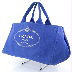 PRADA Kanapa BN1872 Blue Cobalt Canvas Handbag Ladies