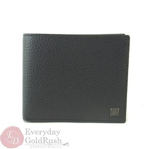 ダンヒル(Dunhill) DUNHILL レザー 二つ折り財布 ブラック