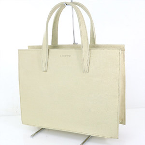 LOEWE White Leather Tote Bag Women