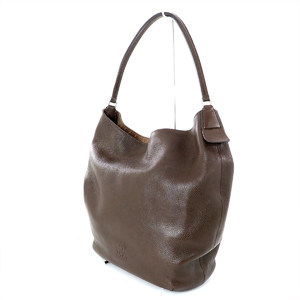 Hirof HIROFU Brown Leather Shoulder Bag Women