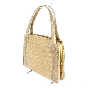 IPV Certified Brown Crocodile Handbag Women
