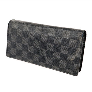 LOUIS VUITTON Damier Grafitte Canvas Portofoil bra Long wallet mens