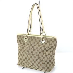GUCCI GG canvas beige shoulder bag 139552 tote women